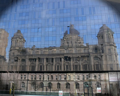Port of Liverpool Building reflected in the Open Eye Gallery (ksztanko) Tags: reflection liverpool portofliverpoolbuilding