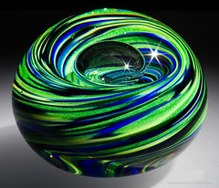 Lapis Lime Bubble Twist (Jeff Addicott) Tags: glass spotlight etsy product paperweight sunstar snoot f32 micronikkor55mm135 sonya7