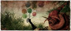 Hi sweetheart, do you want a balloon? (La Baroque ( Laura )) Tags: hat monster teeth fear balloon secondlife glove deadpool