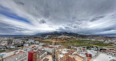 Cloudy Morning (Yassine Abbadi) Tags: road street roof sky cloud mountain building grass cloudy morocco maroc marruecos rif habitation tetuan tetouan ghorghiz