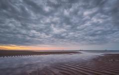 Sunset Beach..Aberdeen (Explored) (LoneWolfA7ii) Tags: blue light sea sky orange art beach water yellow clouds boats scotland sand sony ships aberdeen a7ii