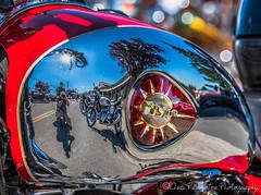 BSA Motorcycle Tank (Chris Parmeter Photography (smokinman88)) Tags: abstract reflection colors nikon tank chrome motorcycle 28300mm bsa d810