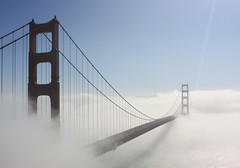 Somedays, I don't have the foggiest what to shoot... (Gunn Shots (Mark Gunn)) Tags: sanfrancisco fog goldengatebridge goldengate