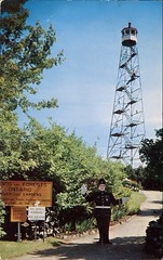 The Forest Ranger Fire Tower, Parry Sound, Ontario (SwellMap) Tags: architecture vintage advertising design pc 60s fifties postcard suburbia style kitsch retro nostalgia chrome americana 50s roadside googie populuxe sixties babyboomer consumer coldwar midcentury spaceage atomicage