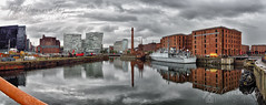 Liverpool Reflections (Jason Connolly) Tags: panorama liverpool albertdock merseyside canningdock nwengland liverpoolpanorama