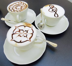 Cappuccino in Pistoia Italy (Emma Kirstys Sister) Tags: cappuccino pistoia italy