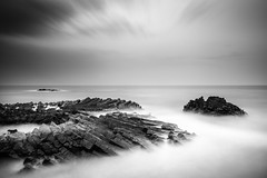 silence and solitude (savillejoe) Tags: bwnd110 longexposure blackandwhite photography clouds water ndfilters seascape yangnamcolumnajoin southkorea rocks