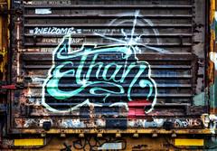 welcome (Sky Noir) Tags: door railroad art beautiful train graffiti decay ethan boxcar freights benching
