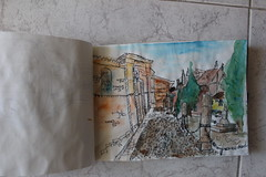 Drawing, Santa clara (anikattel) Tags: drawing draw sketch colour colors colores acuarela watercolor street calle toro zamora spain espaa
