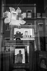 . (glynbrownson) Tags: reflection geometry ricohgr shape street blackandwhite monochrome highcontrast mirror