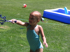 Alexy's School Water Day (Beauty Playin 'Eh) Tags: waterslide bathingsuits kidsplaying waterday playinginthegrass girlsinswimsuits amwwaterday2013