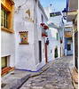 Cozy alley in Sitges. (Bessula) Tags: city flower spain alley decor sitges bessula