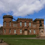 Inverness Castle & Flora MacDonald Statue Inverness Scotland thumbnail