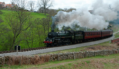 The Green Knight 75029 (saxman1597) Tags: england nature beauty museum train landscape countryside nikon yorkshire transport railway historic steam sigma18125 steamtrain steamlocomotive nymr northyorkmoorsrailway greenknight nikond200 historictransportation 75029 historictransport classictransport classiclocomotive nymrsteamgala2013 nymrsteamgala10513 75029greenknight