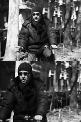 [La Mia Citt][Pedala] (Urca) Tags: portrait blackandwhite bw italia milano bn ciclista biancoenero bicicletta pedalare 2013 5579 dittico ritrattostradale