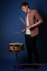 Photoshoot with Cam (LauraNimmoSmithPhotography) Tags: portrait music motion college studio drums photography movement model portraiture drummer drumsticks snare