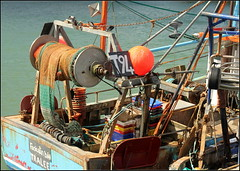 Trawler and tackle (catb -) Tags: ireland sea pier boat fishing harbour nets waterford trawler buoy helvick buoyant