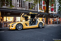 SLS (Keno Zache) Tags: black car yellow mercedes flying automotive series dsseldorf epic luxury matte sls amg keno zache