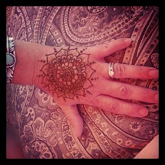 #Lotus #mandala #henna on a customer at the Whole Earth Festival last weekend in Davis (Hiral Henna) Tags: square squareformat sutro iphoneography instagramapp uploaded:by=instagram