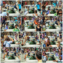 A comic strip... (Giorgio Verdiani) Tags: barcelona park camera girls people espaa parco ceramica men boys architecture digital ceramic spain women fuji gente crowd modernism august tourists agosto dresses iguana donne colored catalunya guell parc architettura modernismo barcellona catalua spagna turisti 2010 gaud 5mp fragments ragazzi catalogna uomini colorati antonigaudi stolenshot ragazze catalogne vestiti frammenti catalano folla a500 catalonha scattorubato