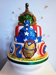 IMG_Avengers Cake (Couture Cakes & Dreams) Tags: birthday man cake america iron celebration captain superheroes hulk thor marvel avengers