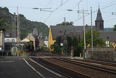Bahnhof, Bacharach (Forest Pines) Tags: railroad station train germany deutschland eisenbahn railway bahnhof deutschebahn bahn rheinland rhineland rheinlandpfalz bacharach rhinelandpalatinate linkerheinstrecke