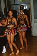 Himosha Zulu Dancers Walt Whitman Cultural Arts Ctr Camden Feb 1998 093 Nomsa & Siso (photographer695) Tags: himosha zulu dancers walt whitman cultural arts ctr camden feb 1998 nomsa siso
