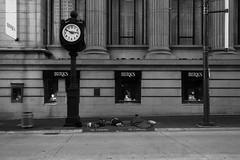 Tough Times (MikeChatwin) Tags: street blackandwhite bw white black vancouver sleep homeless streetphotography birks