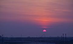 Suburban Sunset4 (AR_the old guy) Tags: sunset sky clouds raw suburbia powerlines amusementpark toned