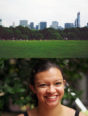 june days (chloe sevario) Tags: newyorkcity trees people woman girl grass skyline emily diptych centralpark lawn meadow greatlawn