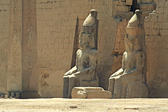 Sit like an Egyptian.. (areyarey) Tags: africa old travel people sculpture history statue stone architecture religious temple ancient sandstone ruins antique famous religion guard egypt entrance landmark scene pylon egyptian obelisk pharaoh civilization ta