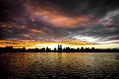 Sunset on the Reservoir (RebeccaDalePhotography) Tags: nyc sunset newyork centralpark