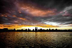 Sunset on the Reservoir (RebeccaDalePhotography) Tags: nyc sunset newyork centralpark