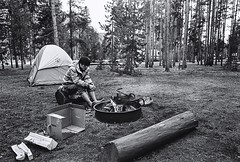 14 (Neil Lee 1989) Tags: camp trix 25 yellowstone konica 28 rf zm
