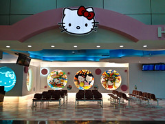 hello kitty gate (hey tiffany!) Tags: br hellokitty tpe evaairlines taipeitaoyuanairport