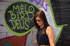 mellow bird (Markgill21) Tags: portrait girl smile graffiti pentax mark shy wife gill mellow k5