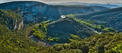 Entrenched Meander (Mike H) Tags: france river vista gorge ardeche vallonpontdarc rhonealpes entrenchedmeander belvedereduserredetourre