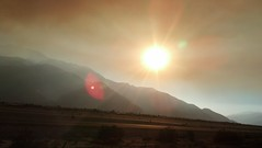 Smoke-Filled, Sun-Lit Coachella Valley (Disney Pin Hunters) Tags: fire palmsprings spanish where what how hillside translate thick deserthotsprings choking mountaincenter palmspringsca massivefire flickrandroidapp:filter=none
