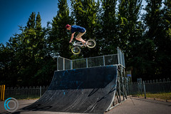 Air 6ft (fclay) Tags: uk christchurch england urban bike sport digital canon photography bmx action south flash extreme skatepark dorset strobe mudeford llens xti 400d