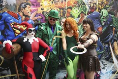Harley Quinn, The Riddler, Poison Ivy and Xena: Warrior Princess (JeDi58) Tags: california usa sandiego cosplay ivy harley quinn northamerica poison xena comiccon riddler sdcc sdcc2013