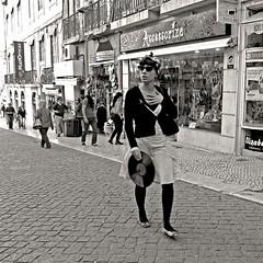 LP (carlos_ar2000) Tags: street people woman sexy portugal girl beauty disco calle mujer pretty chica gente walk lisboa gorgeous paseo linda lp bella brunette disc longplay chiado morocha