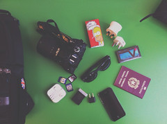 What's in my Bag? // Glasgow Edition (lorenzoviolone) Tags: camera trip travel vintage bag glasses headphones appleaperture fav10 fav25 project52 appleiphone iphone4 vsco iphonography vscocam vscoapp gla13