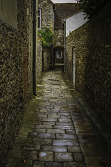 Chichester street (L T Churchill Photography) Tags: windows light stone cathedral path chichester