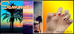 unhas, summer, por do sol, nail art, estilo proprio by sir (siça ramos) Tags: look blog imagens fotografia unhadecorada unhasdasemana unhasnailart estilopropriobysir