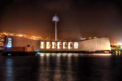 Never Forgotton (xmrrushx) Tags: ocean oklahoma night hawaii memorial pacific oahu pearlharbor battleship hdr ussarizona dec7th1941 ussoklahoma nikond7000