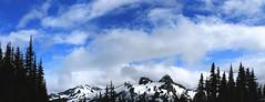 100 (Srishti.N) Tags: travel blue trees sky panorama usa nature clouds photography washington nationalpark