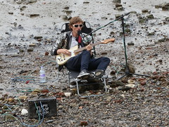 Busker on the Thames Riverbank (Bri_J) Tags: london thames southbank busker riverbank