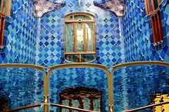 Casa Batllo - Barcelona, Spain (The Web Ninja) Tags: barcelona old travel blue art history architecture canon photography casa spain europe catalonia spanish tiles gaudi catalan balto antonigaudi explored