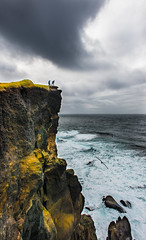 At the edge of the cliff (Tore Thiis Fjeld) Tags: ocean sea sky seascape color nature water rock clouds iceland nikon waves horizon cliffs getty reykjanes d800 brakers