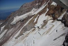 Sandy Glacier (loloboho) Tags: mountain landscape volcano flying aerial glacier climbing mthood mountaineering aerialphotography cravasse pentaxk10d sandyglacier